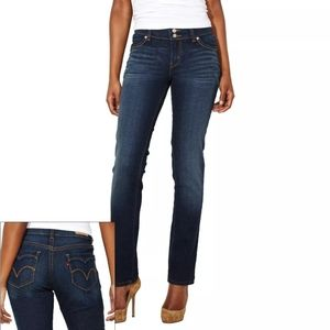 LEVI'S 529 GREAT COND CURVY STRAIGHT LONG JEANS